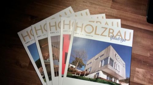 Article in Quadriga about wood construction