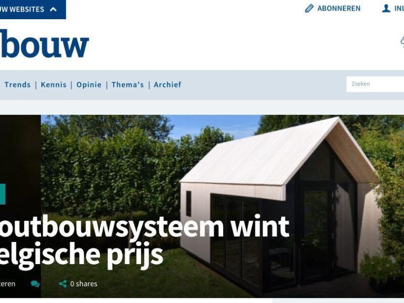 Cobouw.nl: Houtbouwsysteem wint Belgische prijs