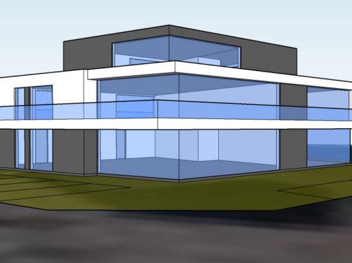 Combinatie Systimber met staalskelet en beton
