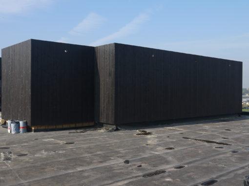 Ontwerp door architect Goddeeris(Kortrijk) – Industriële optop