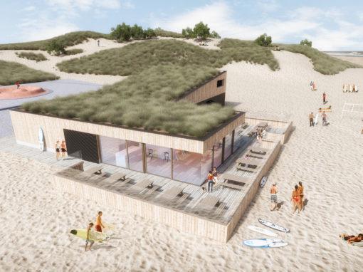 Massieve houtbouw bestendig tegen alle weersomstandigheden? Deze surfclub toont dat het kan.